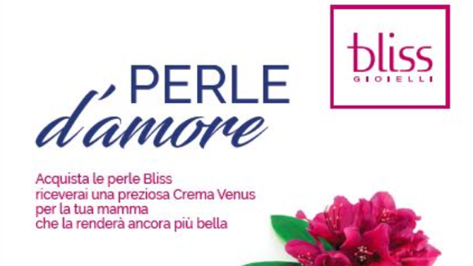 Bliss Celebra La Festa Della Mamma Con Liniziativa Perle Damore