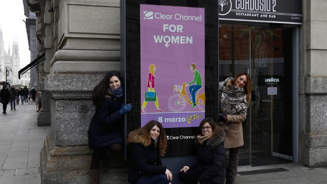 Clear Channel dedica alle donne la campagna 'Clear Channel for Women'