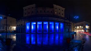 Engie illumina Frosinone con l'ambient #BlueCity firmato The Big Now