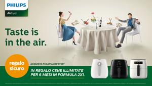 "Al via ""Taste is in the air"", la promozione a premio certo di Philips ideata da TLC Marketing"