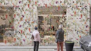 'Flowerprint', a Brera Design District arriva la parete fiorita di Piuarch
